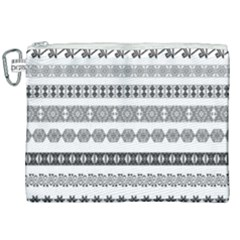 Borders Ikat Ethnic Frame Tribal Canvas Cosmetic Bag (xxl)
