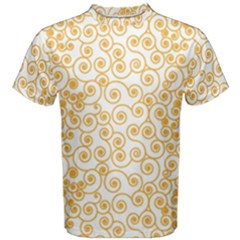 Spiral Pattern Fractal Texture Men s Cotton Tee by Wegoenart