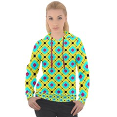 Pattern Tiles Square Design Modern Women s Overhead Hoodie