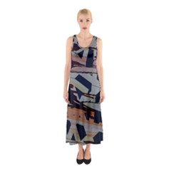 Migraine Sleeveless Maxi Dress