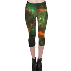 Space Cosmos Galaxy Universe Sky Capri Leggings