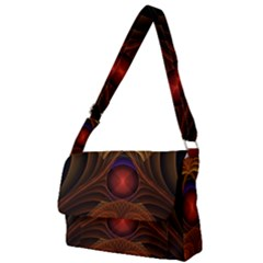 Fractal Fantasy Design Swirl Full Print Messenger Bag (l)