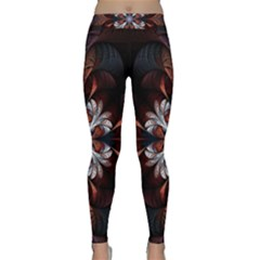 Fractal Flower Fantasy Floral Classic Yoga Leggings