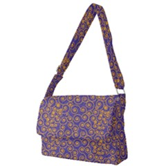 Spiral Patter Seamless Tile Full Print Messenger Bag (l)