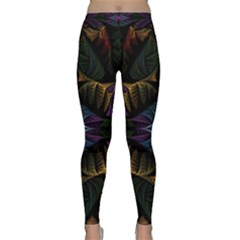 Fractal Abstract Background Pattern Art Classic Yoga Leggings by Wegoenart