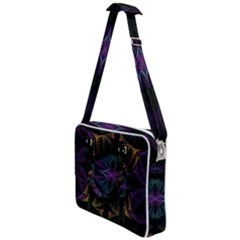 Fractal Abstract Background Pattern Art Cross Body Office Bag by Wegoenart