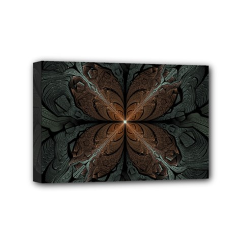 Art Abstract Fractal Pattern Mini Canvas 6  X 4  (stretched) by Wegoenart