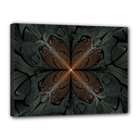 Art Abstract Fractal Pattern Canvas 16  X 12  (stretched) by Wegoenart