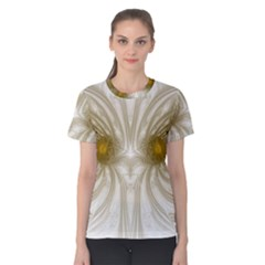 Fractal Fantasy Background Pattern Women s Cotton Tee
