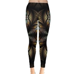 Fractal Flower Fantasy Floral Leggings