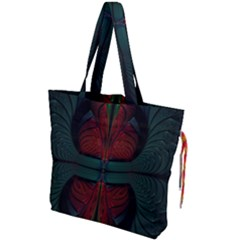 Fractal Abstract Background Pattern Drawstring Tote Bag by Wegoenart