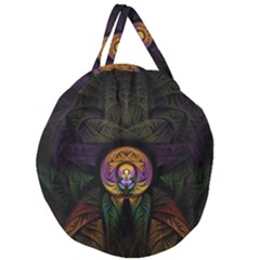 Fractal Abstract Background Pattern Giant Round Zipper Tote by Wegoenart
