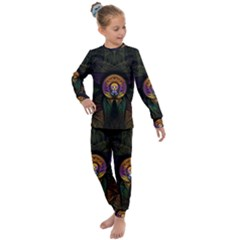 Fractal Abstract Background Pattern Kids  Long Sleeve Set