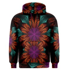 Fractal Flower Fantasy Floral Men s Core Hoodie
