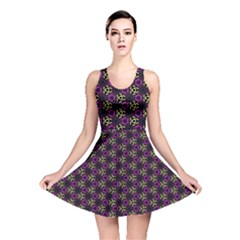 Wallpaper Floral Pattern Purple Reversible Skater Dress