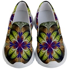 Fractal Flower Fantasy Design Kids Lightweight Slip Ons