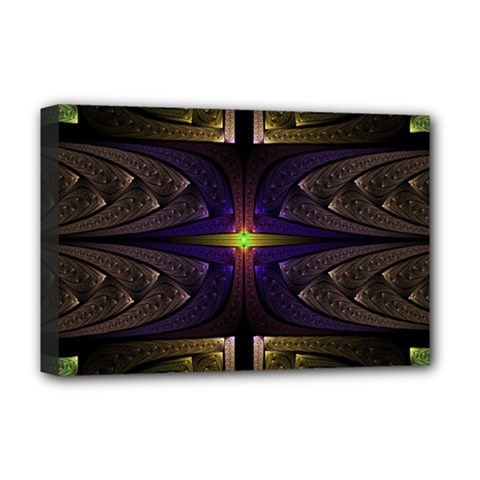 Fractal Fantasy Design Texture Deluxe Canvas 18  X 12  (stretched) by Wegoenart