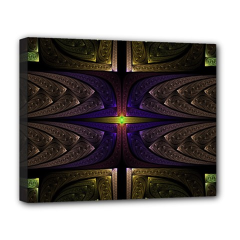 Fractal Fantasy Design Texture Deluxe Canvas 20  X 16  (stretched) by Wegoenart