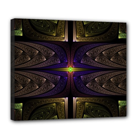 Fractal Fantasy Design Texture Deluxe Canvas 24  X 20  (stretched) by Wegoenart