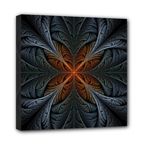 Art Abstract Fractal Pattern Mini Canvas 8  X 8  (stretched) by Wegoenart