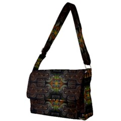 Fractal Fantasy Mystic Design Full Print Messenger Bag (l)