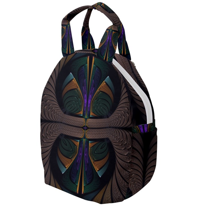 Fractal Abstract Background Pattern Travel Backpacks