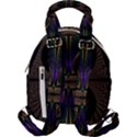 Fractal Abstract Background Pattern Travel Backpacks View2