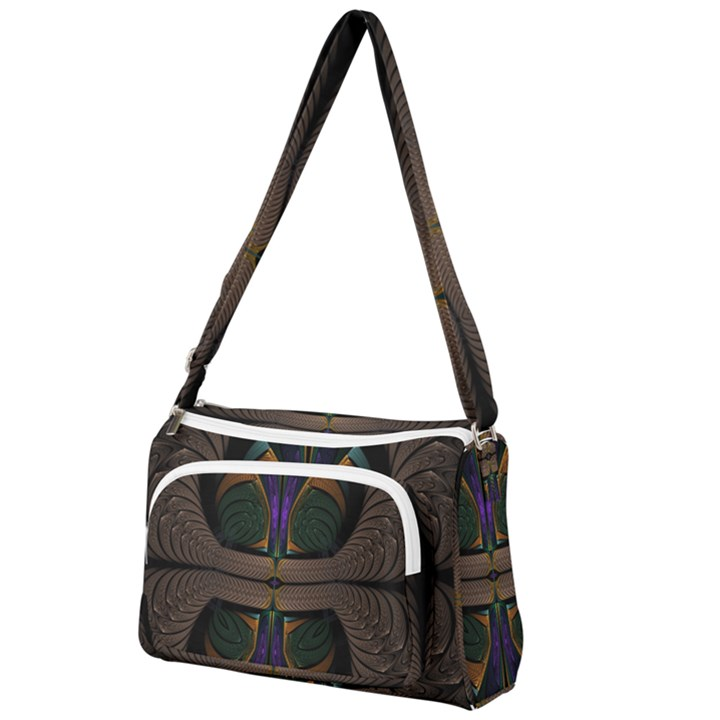 Fractal Abstract Background Pattern Front Pocket Crossbody Bag