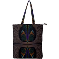 Fractal Abstract Background Pattern Double Zip Up Tote Bag