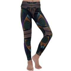 Fractal Abstract Background Pattern Kids  Lightweight Velour Classic Yoga Leggings