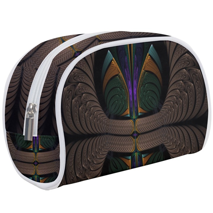 Fractal Abstract Background Pattern Makeup Case (Large)