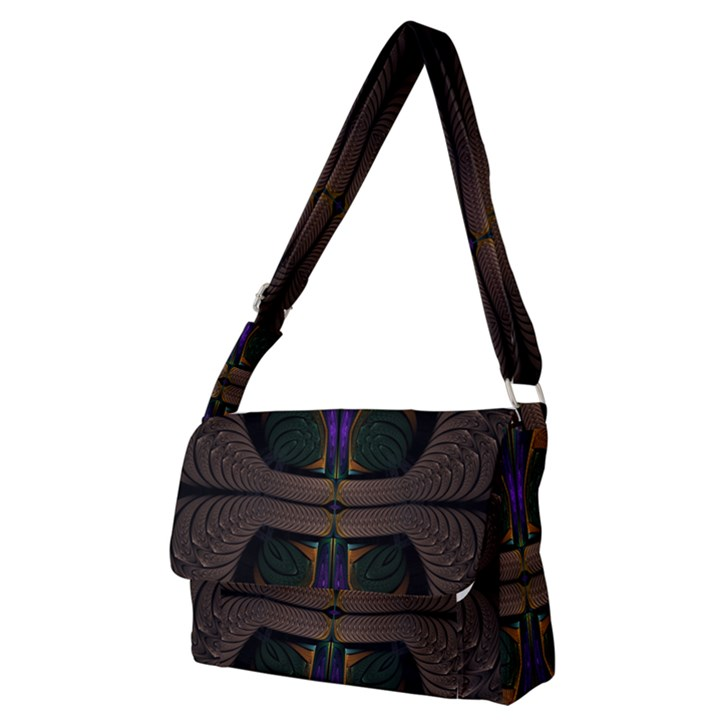 Fractal Abstract Background Pattern Full Print Messenger Bag (M)