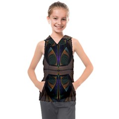 Fractal Abstract Background Pattern Kids  Sleeveless Hoodie