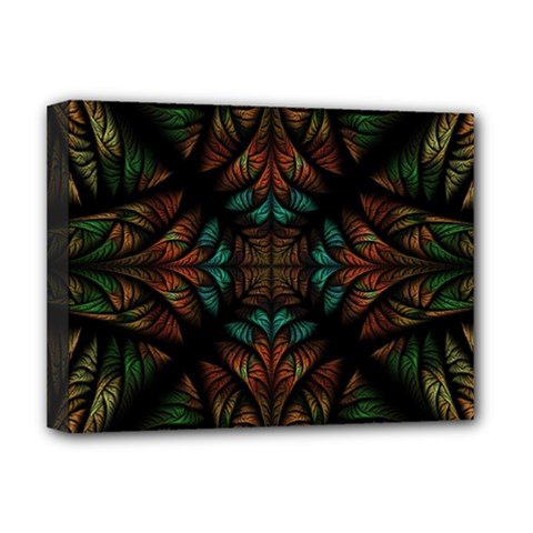 Fractal Fantasy Design Texture Deluxe Canvas 16  X 12  (stretched)  by Wegoenart