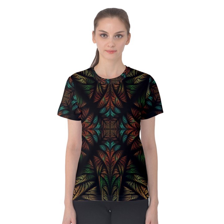 Fractal Fantasy Design Texture Women s Cotton Tee