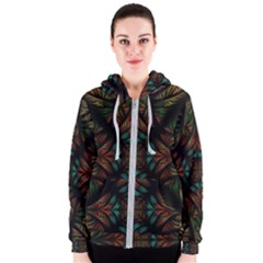 Fractal Fantasy Design Texture Women s Zipper Hoodie by Wegoenart