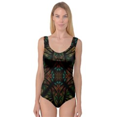 Fractal Fantasy Design Texture Princess Tank Leotard