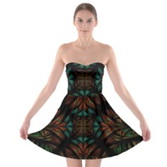 Fractal Fantasy Design Texture Strapless Bra Top Dress by Wegoenart