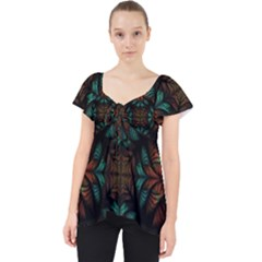 Fractal Fantasy Design Texture Lace Front Dolly Top