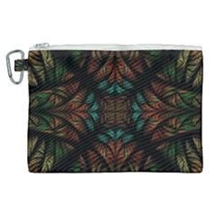 Fractal Fantasy Design Texture Canvas Cosmetic Bag (xl)
