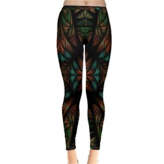 Fractal Fantasy Design Texture Inside Out Leggings