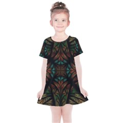 Fractal Fantasy Design Texture Kids  Simple Cotton Dress by Wegoenart