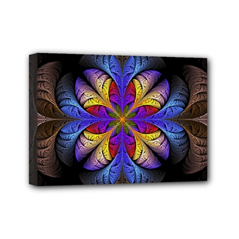 Fractal Flower Fantasy Floral Mini Canvas 7  X 5  (stretched)