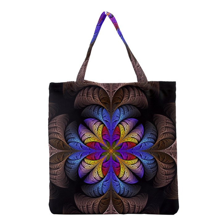 Fractal Flower Fantasy Floral Grocery Tote Bag