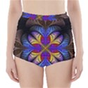 Fractal Flower Fantasy Floral High-Waisted Bikini Bottoms View1