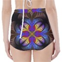 Fractal Flower Fantasy Floral High-Waisted Bikini Bottoms View2