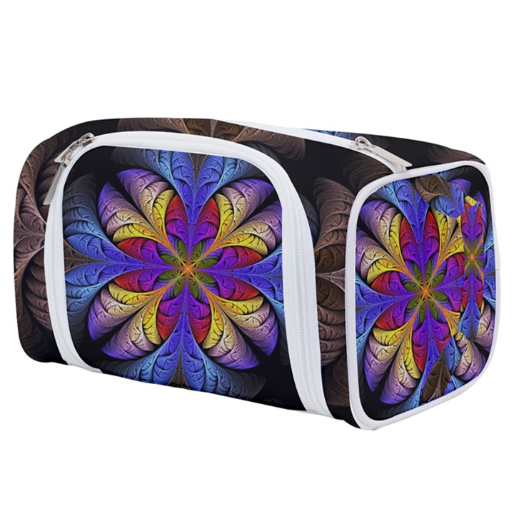 Fractal Flower Fantasy Floral Toiletries Pouch