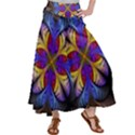 Fractal Flower Fantasy Floral Satin Palazzo Pants View1