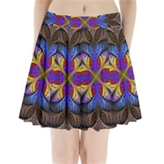 Fractal Flower Fantasy Floral Pleated Mini Skirt