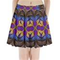 Fractal Flower Fantasy Floral Pleated Mini Skirt View1